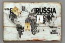 Mapy sveta na stenu