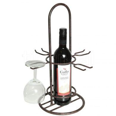 Stojan na víno s držiakmi na poháre