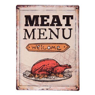 Tabuľa Meat Menu