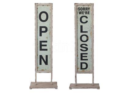 Tabuľa Open/Close