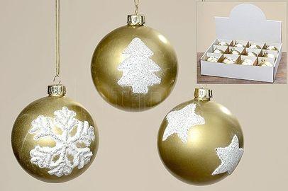 Vianočná guľa Gold